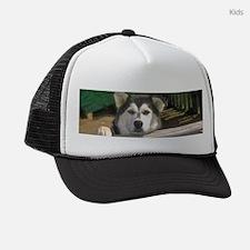 Alaskan Malamute Kids Trucker hat
