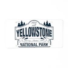 Yellowstone NP Blue Aluminum License Plate