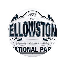 "Yellowstone NP Blue 3.5"" Button"