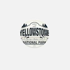 Yellowstone NP Blue Mini Button