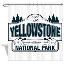 Yellowstone NP Blue Shower Curtain