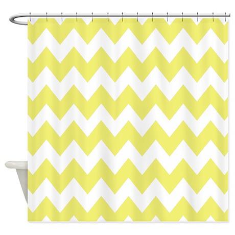 Yellow Chevron Shower Curtain