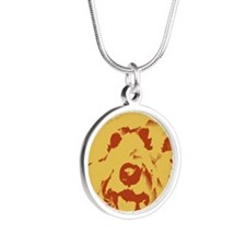 goldenDoodle_2tone_type1.jpg Silver Round Necklace