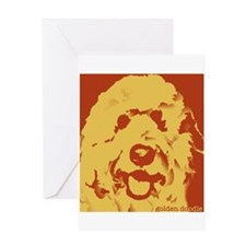 goldenDoodle_2tone_type1.jpg Greeting Card