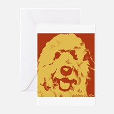 goldenDoodle_2tone_type1.jpg Greeting Cards (Pk of