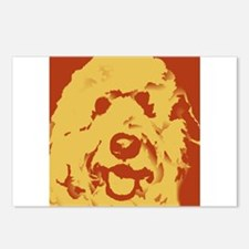 goldenDoodle_2tone_type1.jpg Postcards (Package of