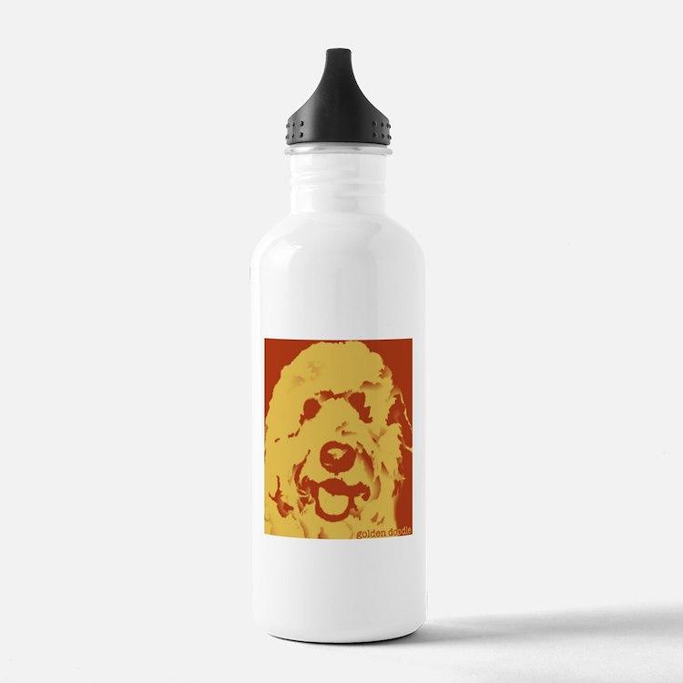 goldenDoodle_2tone_type1.jpg Water Bottle