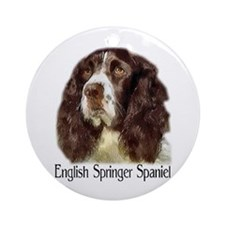 English Springer Spaniel Gift Ornament (Round)