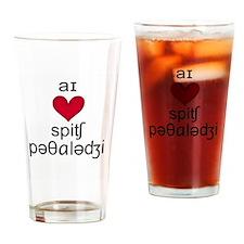 Funny Speech language pathologist joke Drinking Glass
