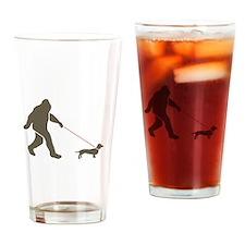 Cute Bigfoot Drinking Glass