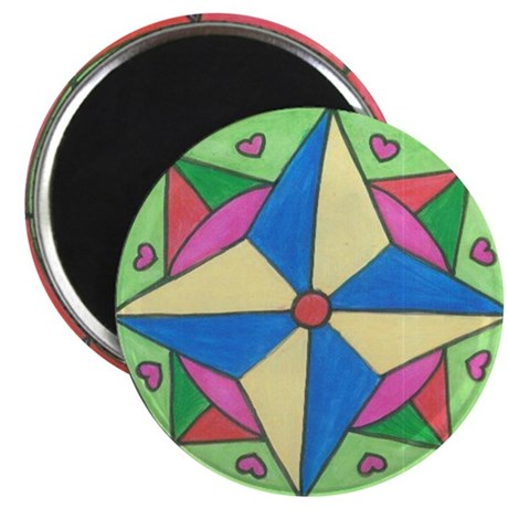 """Stained Glass Art 2.25"""" Magnet (10 pack)"""