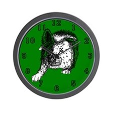 Border Collie Stare Wall Clock
