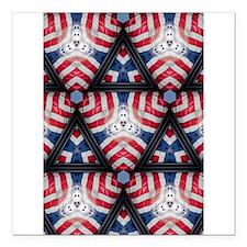 "American flag kaleidoscope Square Car Magnet 3"" x"