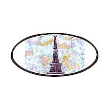Eiffel Tower Pointillism by Kristie Patches