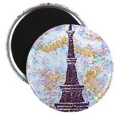 Eiffel Tower Pointillism by Kristie Magnet