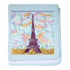 Eiffel Tower Pointillism by Kristie baby blanket