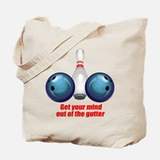 Get your Mind out of the Gutter (blue).png Tote Ba