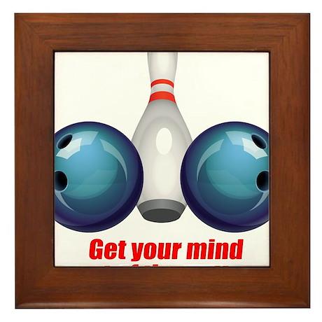 Get your Mind out of the Gutter (blue).png Framed