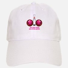 Get your Mind out of the Gutter (pink).png Baseball Baseball Cap