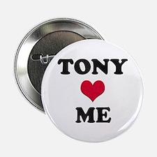 Tony Loves Me Button