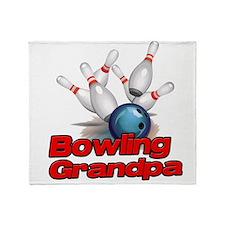 Bowling Grandpa strike).png Throw Blanket