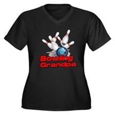 Bowling Grandpa strike).png Women's Plus Size V-Ne