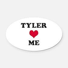 Tyler Loves Me Oval Car Magnet