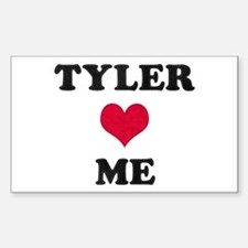 Tyler Loves Me Rectangle Decal