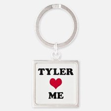 Tyler Loves Me Square Keychain