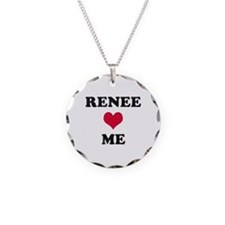 Renee Loves Me Necklace Circle Charm