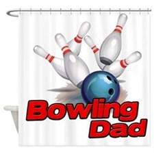 Bowling Dad Shower Curtain