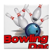 Bowling Dad Tile Coaster