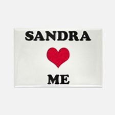 Sandra Loves Me Rectangle Magnet