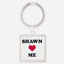 Shawn Loves Me Square Keychain