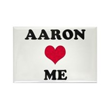 Aaron Loves Me Rectangle Magnet