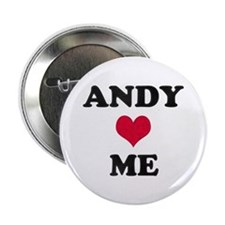 Andy Loves Me Button