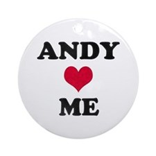 Andy Loves Me Round Ornament