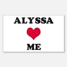 Alyssa Loves Me Rectangle Decal