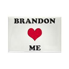Brandon Loves Me Rectangle Magnet
