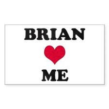 Brian Loves Me Rectangle Decal