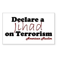 Jihad on Terrorism Rectangle Decal