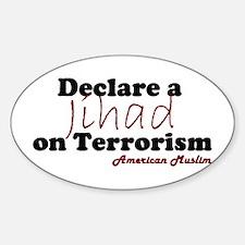 Jihad on Terrorism Oval Decal