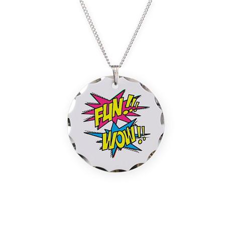 Fun Wow Necklace Circle Charm