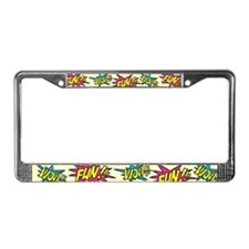 Fun Wow License Plate Frame