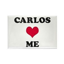 Carlos Loves Me Rectangle Magnet