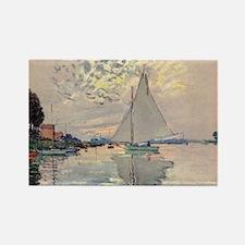 Monet Sailboat Rectangle Magnet