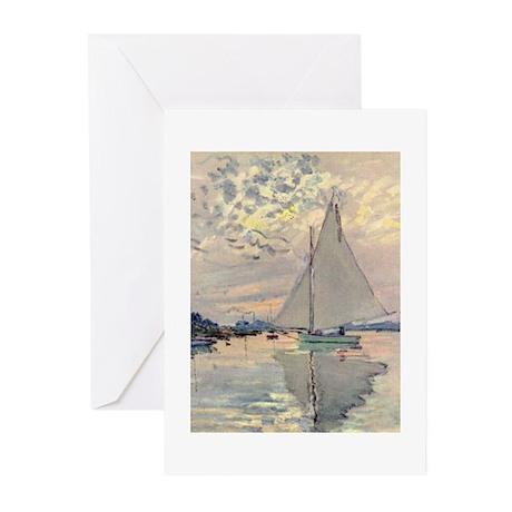 Monet Sailboat Greeting Cards (Pk of 10)