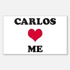 Carlos Loves Me Rectangle Decal