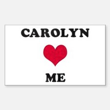 Carolyn Loves Me Rectangle Decal