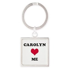 Carolyn Loves Me Square Keychain